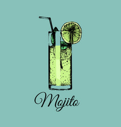 mojito glass isolated of vector image vector image