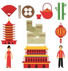 National cultural symbols of china sushi hand vector
