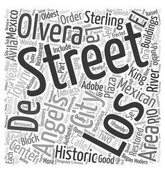 Olvera Street A Taste of Old Mexico text vector image vector image