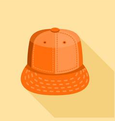 Orange cap icon flat style vector