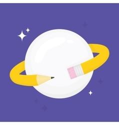 Pencil planet vector