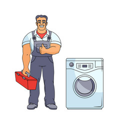 plumber man thumbs up vector image