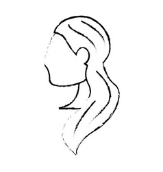 portrait woman bride image sketch vector image vector image