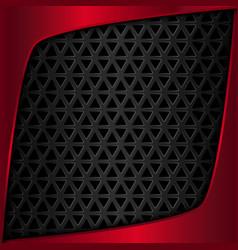 Red metal plate Black metal background vector image vector image