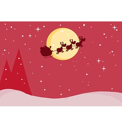 Santa and reindeer cartoon vector image vector image