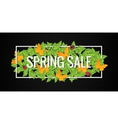 Spring sale banner design border background vector