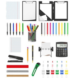 stationery set 01 vector image vector image