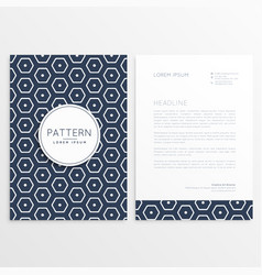 stylish letterhead design with hexagonal pattern vector image vector image