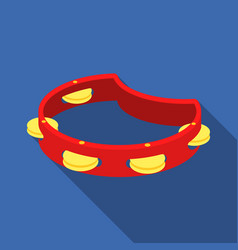 Tambourine icon in flat style isolated on white vector