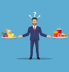 The choice of the businessman vector