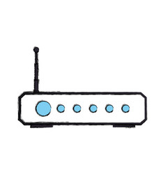 Wifi internet modem vector