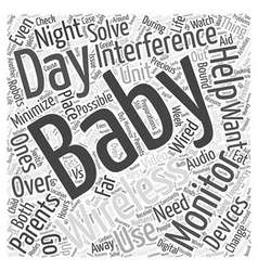 Wireless baby monitors night day word cloud vector