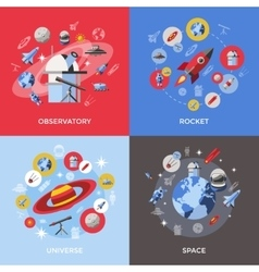 Four space icon set vector