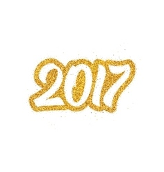 New Year 2017 greeting card design vector image