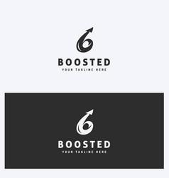 arrow business logo design template vector image