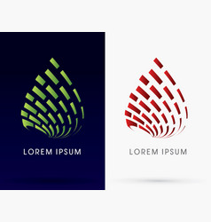 Leaf and fire abstract building architecture logo vector