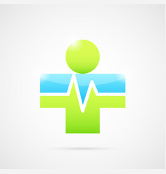 Medical cross like human body vector