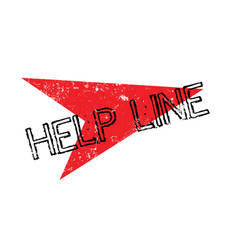 Help line rubber stamp vector