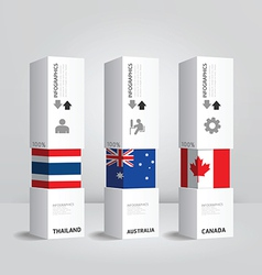 Infographic modern box national design vector
