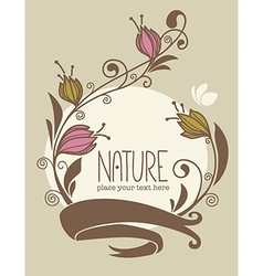nature card vector image