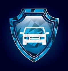 Shield insurance vector