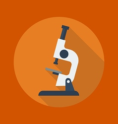 Education flat icon microscope vector