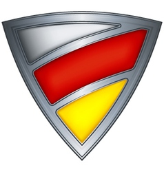 Steel shield with flag ossetia vector
