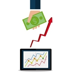 Money and financial market vector