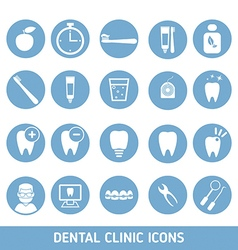 Set of dental clinic icons vector