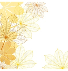 Background with falling autumn leaves vector image