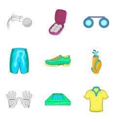athlete icons set cartoon style vector image