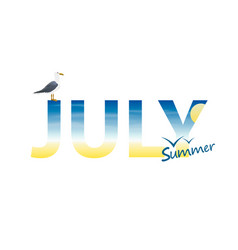 banner year in july vector image vector image