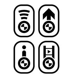 bmw spirit design navigation buttons vector image