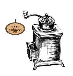 Coffee mill vector