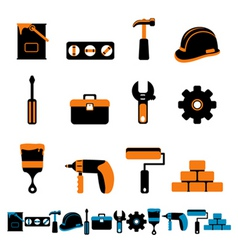 collection of tool vector image vector image