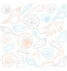 Colorful Seashells vector image