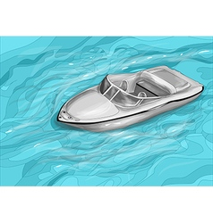 Cutter boat vector