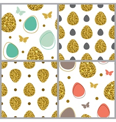 Decorative easter seamless pattern vector