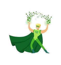 Eco superhero using his super vector