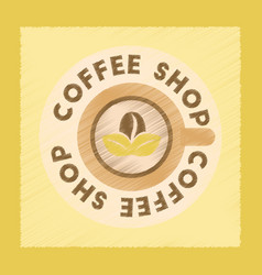 Flat shading style icon coffee shop logo vector