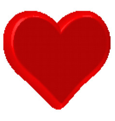 heart halftone icon vector image