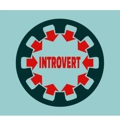Introvert character psychlogy metaphor vector