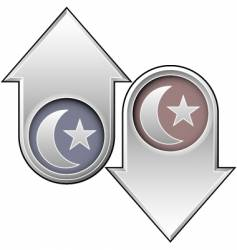 islam directional arrows vector image