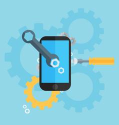 Mobile repair and development vector
