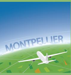 Montpellier flight destination vector