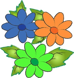 Pretty flowers vector