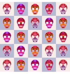 Print skulls vector image vector image