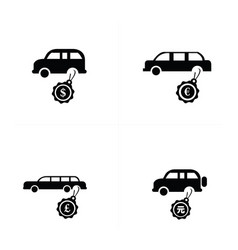 Sale car icons vector