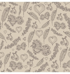 Seamless pattern with bird vector image