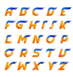 Speed blue and orange letters creative design vector